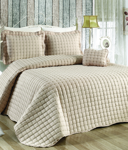 Луксозно шалте за легло – Бежово