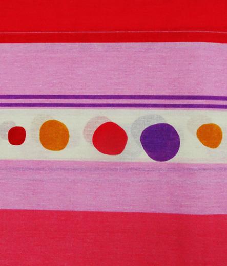 Долен чаршаф за легло - Точки в розово