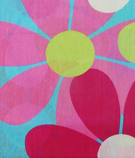Долен чаршаф за легло - Цветя