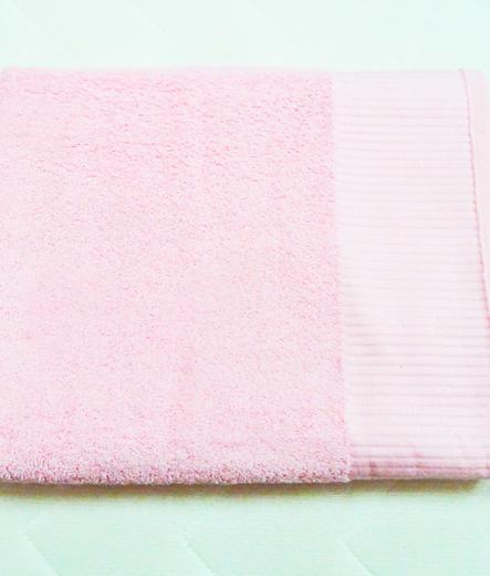 Хавлиена кърпа - Розова с релефен бурдюр