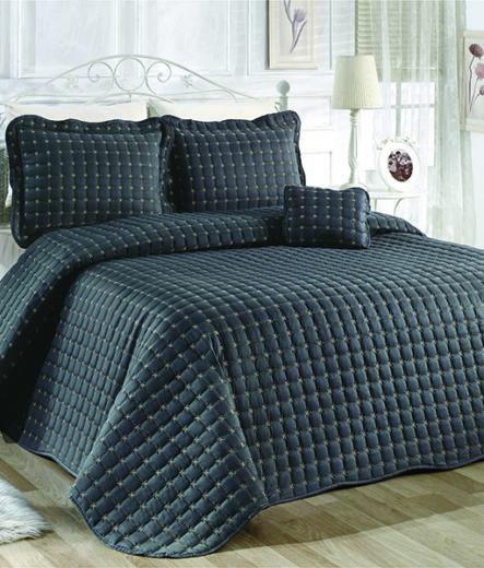 Луксозно шалте за легло – Тъмно сив