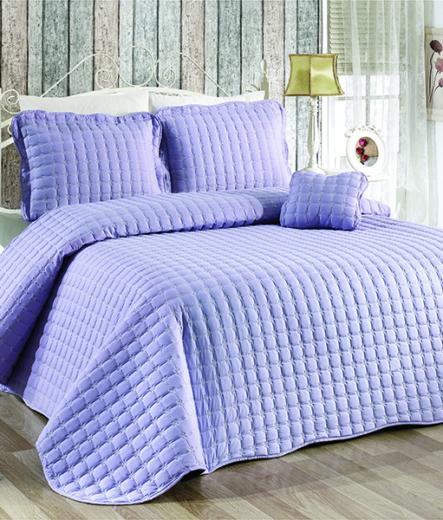 Луксозно шалте за легло – Светло лилав